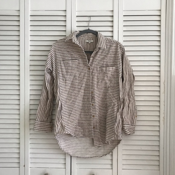 Madewell Tops - 🍁FALL SALE🍁 Madewell Striped Oversized Flannel